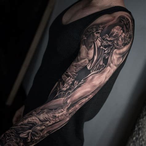 sleeve tattoo black and grey girl 127 best images about tattoo sleeves on pinterest animal