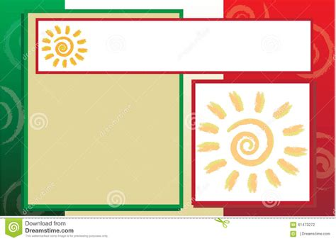Mexican Hispanic Border Template Stock Illustration Illustration Of Mexico Background 61473272 Mexico Brochure Template