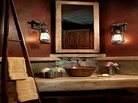 Small Rustic Bathroom Ideas rustic small half bathroom ideas images