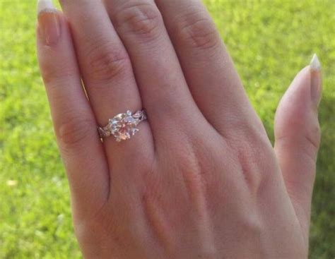 Engagement Ring Finger Size by Pics Of Rings On A Size 3 Finger Weddingbee