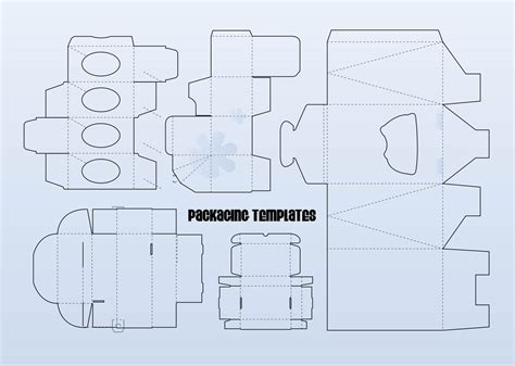 template for packaging packaging templates