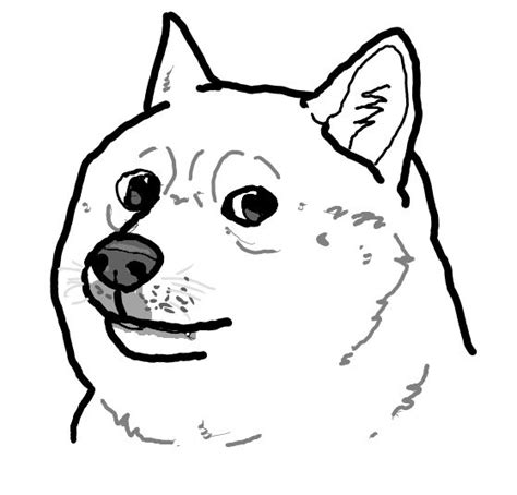Doge Meme Template - black and white doge blank template imgflip