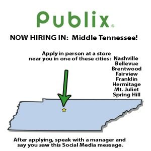 Mba Employment Opportunties Nashville Tn by Hiring In Nashville Area Publix Stores Publix