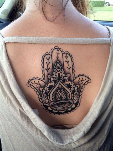tattoo hand on back hamsa hand back tat tattoo s pinterest