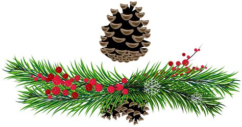 christmas ornaments clipart boughs pencil and in color