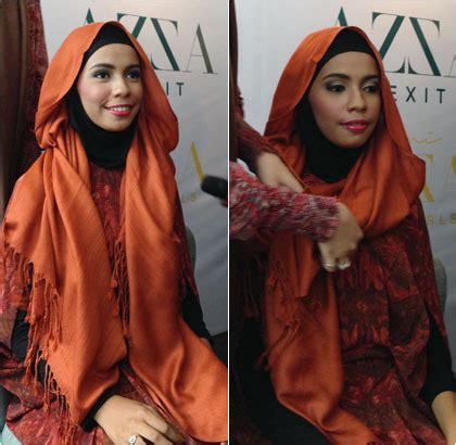 tutorial jilbab ala risty tagor tutorial hijab dengan pashmina panjang ala risty tagor