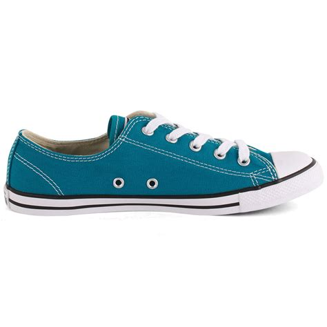 teal shoes converse chuck dainty ox womens canvas teal