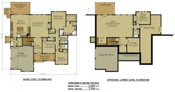 basement garage plans two story cottage lake house plan with garage and optional