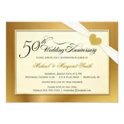 50th golden wedding anniversary invitations zazzle