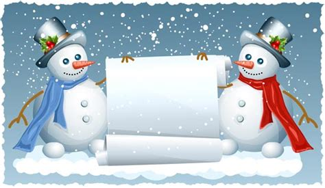 snowman card template snowman vector cards