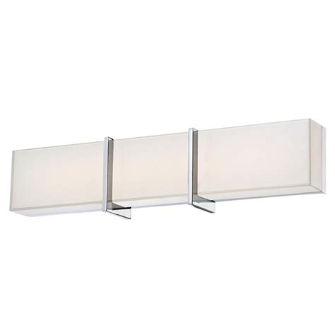 minka lighting high rise led bathroom light in chrome