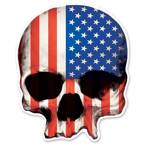 Chopper Için Sticker by Lethal Threat Rude Crude Usa Skull Mini Decal 161 542