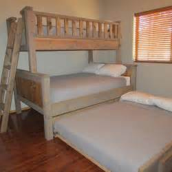bunk bed with size bed on bottom best 25 bunk bed with trundle ideas on 3 tier