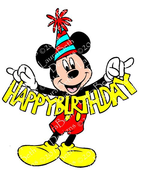 happy birthday mickey mouse design mickey mouse happy birthday digital design embroidery