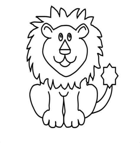 Cartoon Lion Coloring Pages | lion drawing template 15 free pdf documents download
