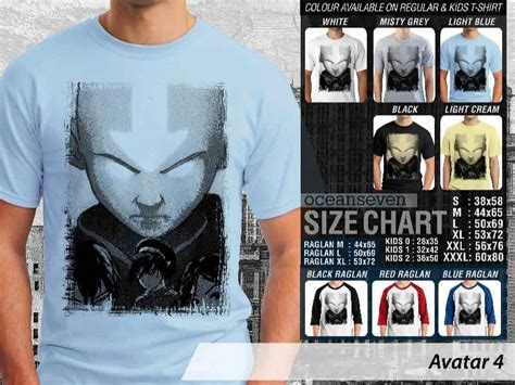 Oceanseven Tshirt Anime 4 t shirt raglan anime avatar by