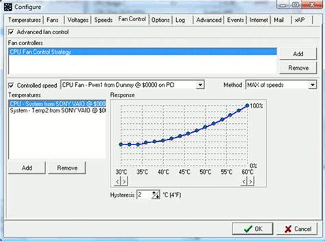 fan speed control software speedfan article advanced fan speed control