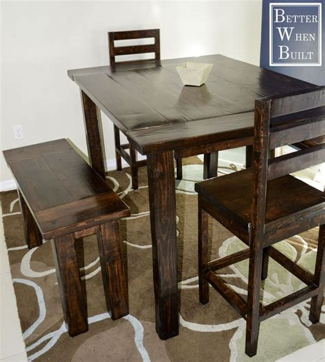 diy counter height table best 20 counter height dining table ideas on
