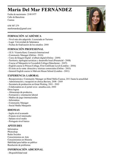 Modelo Curriculum Vitae Ministerio De Trabajo Modelo De Curr 237 Culum V 237 Tae Asistente De Recepcionista Asistente De Recepcionista Cv Plantilla