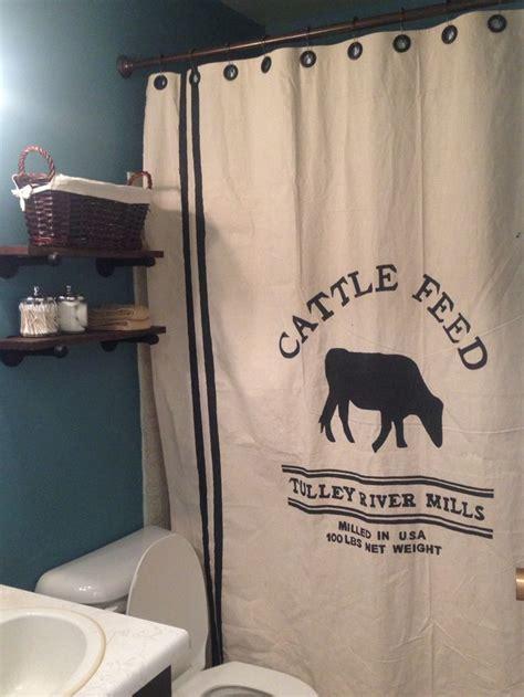 farmhouse shower curtain for bathroom decorating ideas