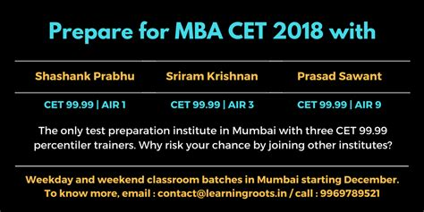 Learning Roots Mba by Learningroots Mba Cet 2018 Weekday Weekend Batches