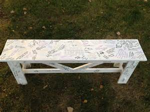 white wedding bench guestbook diy projects