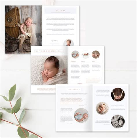 newborn magazine template newborn photography magazine template 18 pages by