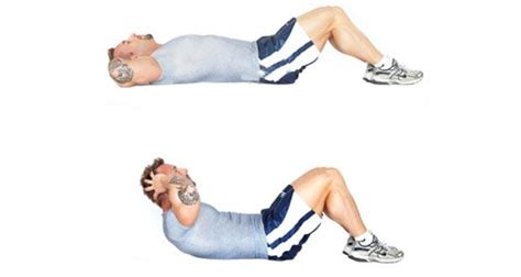 abdominal crunches  losing belly fat learn