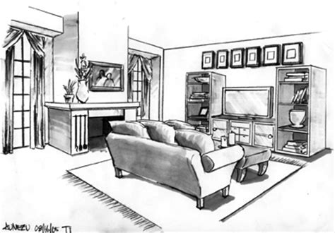 drawn living room cartoon lounge pencil and in color drawn living room cartoon lounge pencil and in color