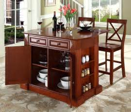Kitchen Island Bars Buy Wheeled Of The Kitchen Island W 2 Cabinets Drop Leaf