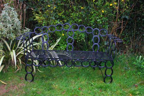 horseshoe bench benches palmers garden products dartmoor devon