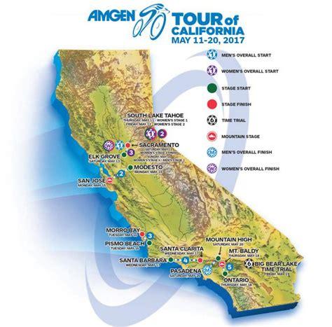 tour of california map tour of california map california map