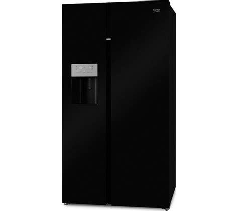 buy beko asgn542b american style fridge freezer black