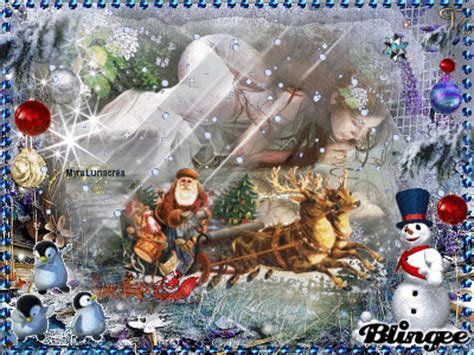 vintage  fantasy christmas fantasy blingee competition picture
