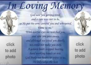 memory poem template in loving memory quotes quotesgram