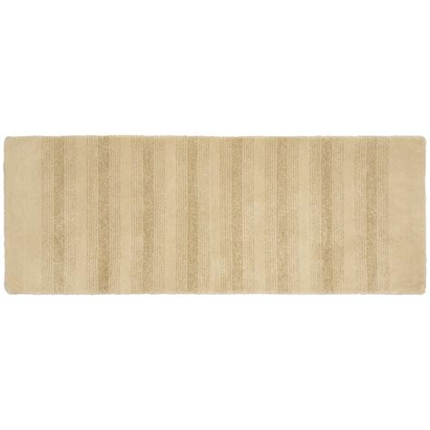 Accent Rugs For Bathroom Garland Rug Essence Linen 22 In X 60 In Washable Bathroom Accent Rug Enc 2260 05 The Home Depot