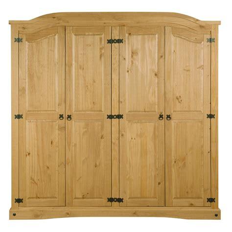 Corona Mexican Pine 4 Door Wardrobe by Corona Mexican 4 Door Wardrobe In Solid Pine Ebay