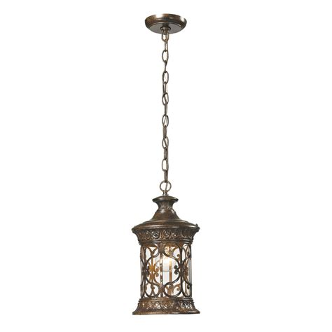 Traditional Pendant Light Elk 45083 1 Orlean Traditional Hazelnut Bronze Exterior Lighting Pendant Elk 45083 1