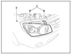 Kia Spectra Headlight Bulb How Do I Remove The Headlight Assembly On A 07 Kia Spectra Sx