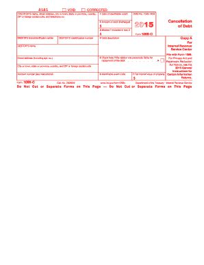 2015 form irs 1099 c fill online printable fillable
