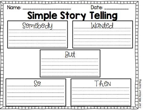 somebody wanted but so template just about teaching simple story telling somebody