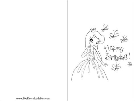 brithday card coloring page template free coloring pages free printable princess birthday
