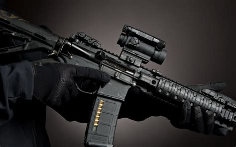 wallpaper cool rifle assault rifle full hd wallpaper and background image
