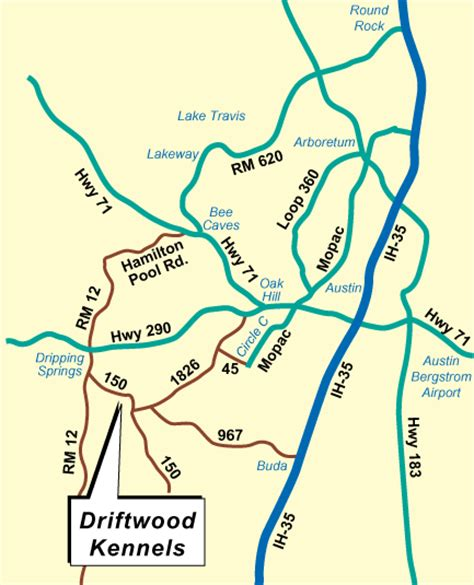 driftwood texas map driftwood kennels directions