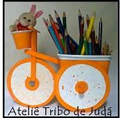 De Jud&225 Reciclagem  Bicicleta Com Pote Margarina Cd Palito