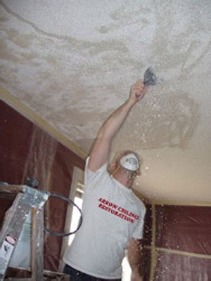 How To Remove Acoustic Ceiling Texture by Wesley Chapel Ceiling Contractor Popcorn Ceiling Removal