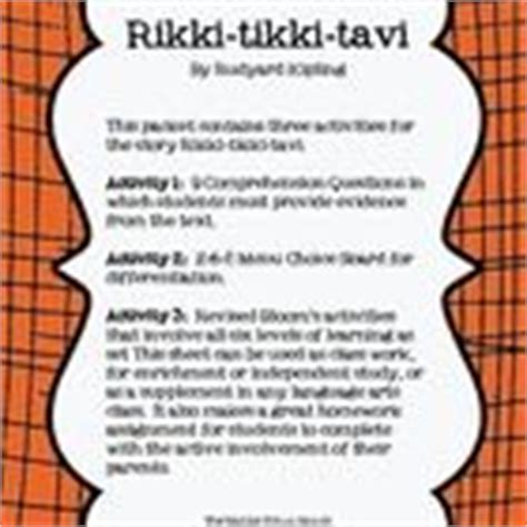 Rikki Tikki Tavi Response To Literature Essay by 1000 Images About Rikki Tikki Tavi On Rudyard Kipling Writing Activities And