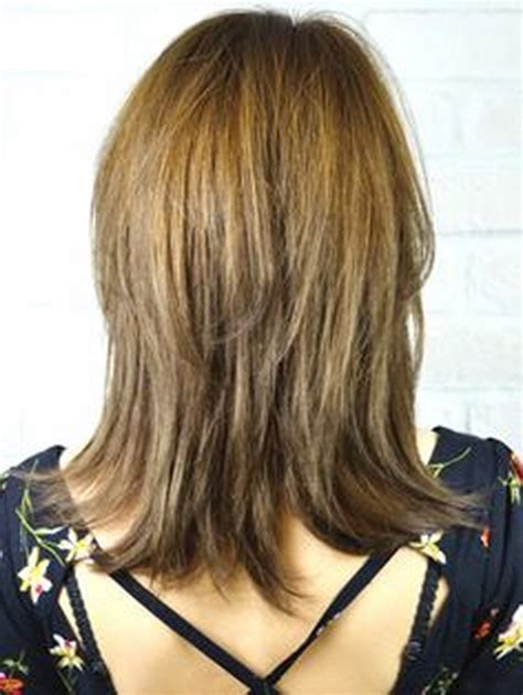 hairstyles back view medium length layered haircuts back view