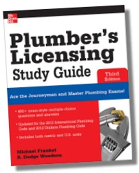 Plumbing License Test by Plumber S Licensing Study Guide 3e 1500