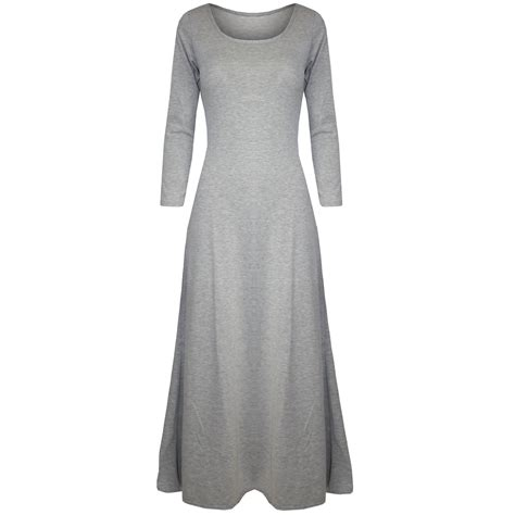 Wst 13086 Dress With Neck Size S womens maxi dress 3 4 sleeve stretchy